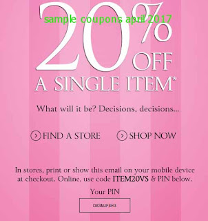 Victoria's Secret coupons april 2017