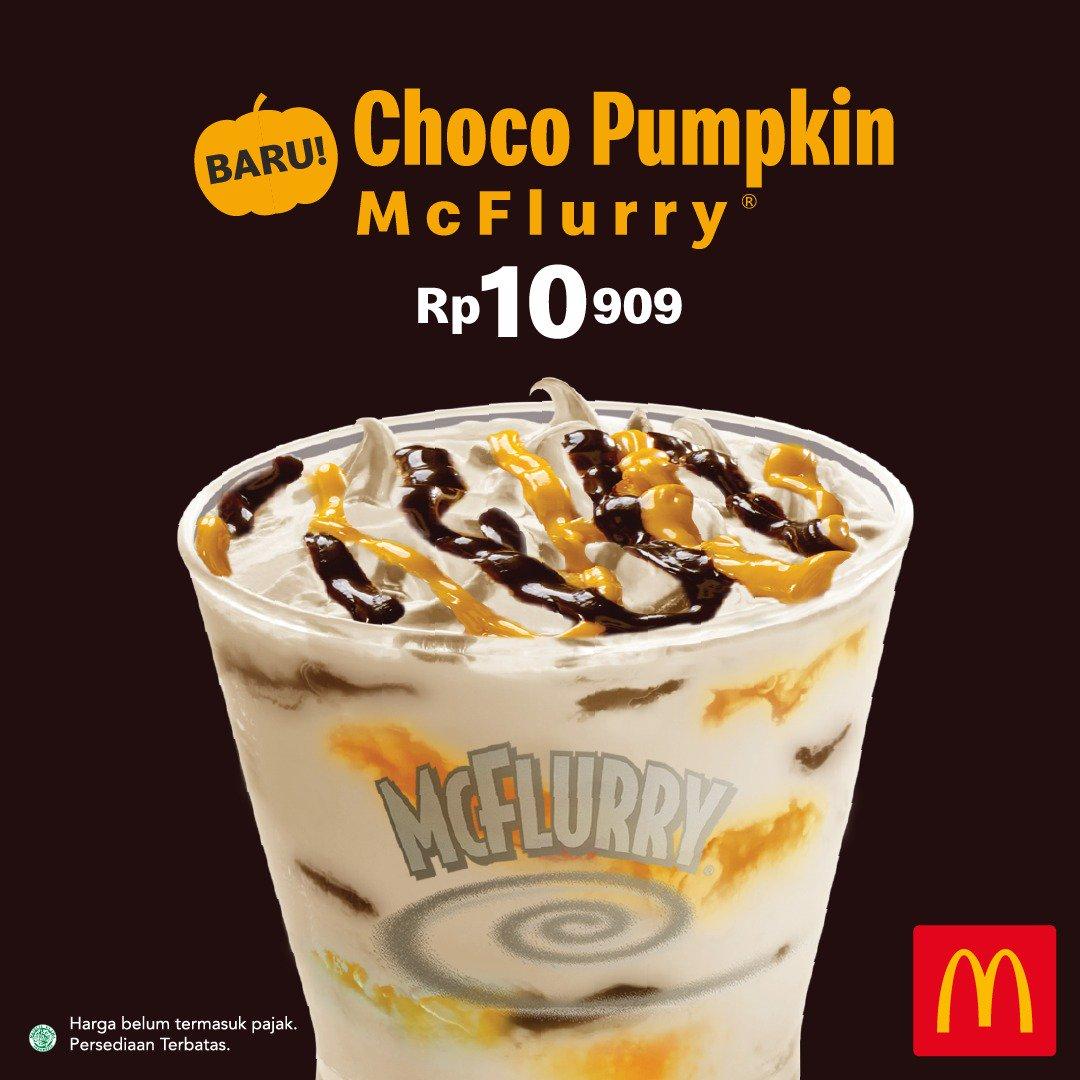 McDonalds - Promo Rasa Baru McFlurry Choco Pumpkin CUma 10Ribuan