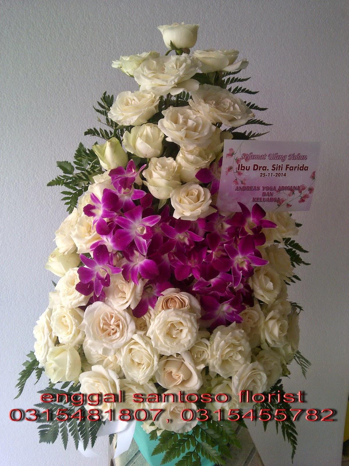 toko rangkaian karangan bunga meja surabaya
