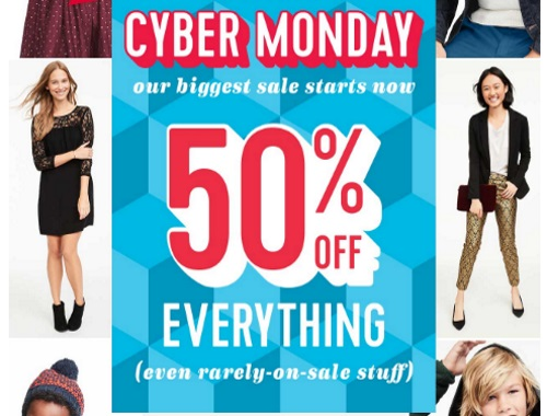 Old Navy Cyber Monday 50% Off Everything