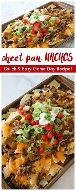 Sheet Pan Nachos Recipe with Homemade Taco Seasoning