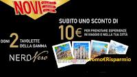 """Novi """" Promo Nero Nero"""" : ricevi sempre buono da 10€ per esperienze in viaggio"""