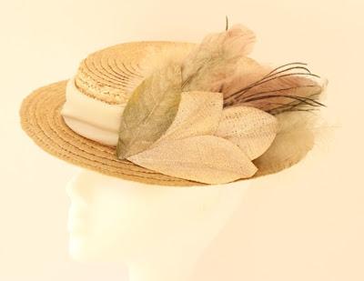 OI 1617 - Coleccion Cobre pluma - Canotier