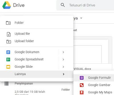 Mengakses layanan google form