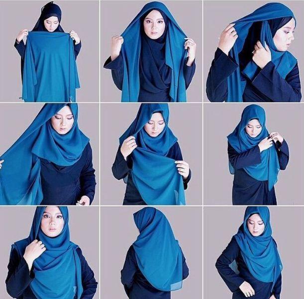 Hijab Segi Empat Simple Gambar Islami