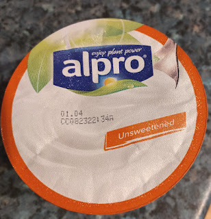Alpro unsweetened no sugar plain soy yogurt
