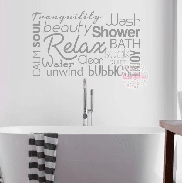 Vinilo decorativo de ba o textos frases w424i cdm vinilos decorativos para pared y vidrieras - Vinilo para el bano ...