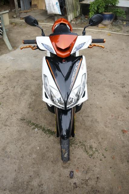 Sơn xe Luvias GTX màu trắng cam đen cực đẹp