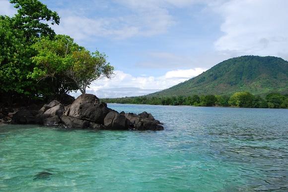 Pantai tersembunyi di Banten