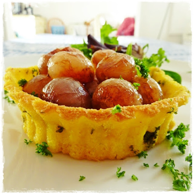 polenta tart case