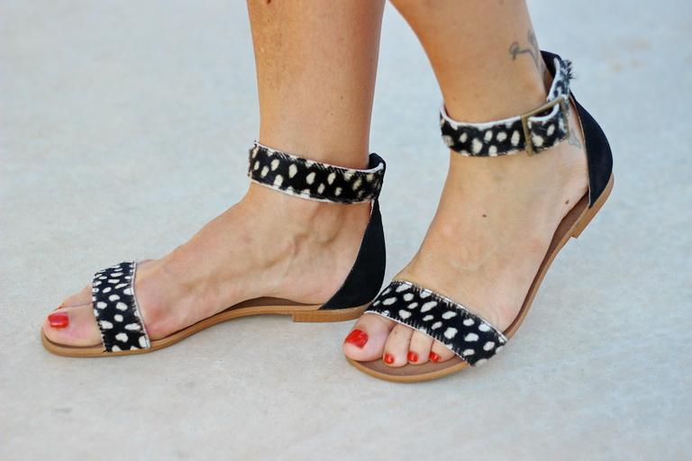 Sandalias planas, sandalias potro, calzados sandra, calzado piel, made in spain