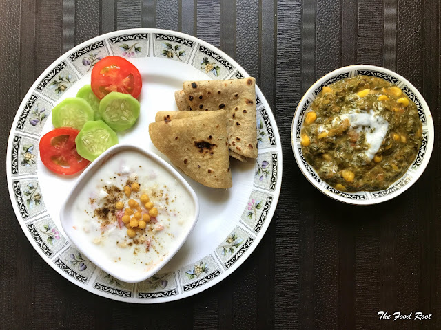 Made with Palak, sweet corn and topped with fresh cream, and served with roti or naan