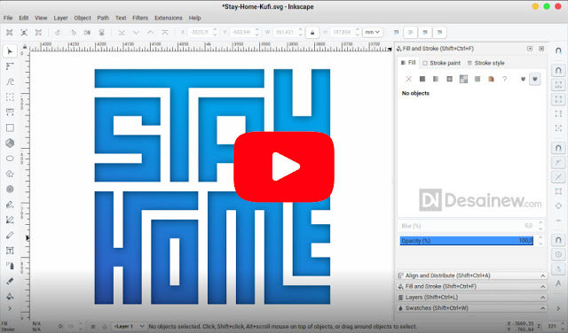 Typographic Text Tutorial like Kufic in Inkscape