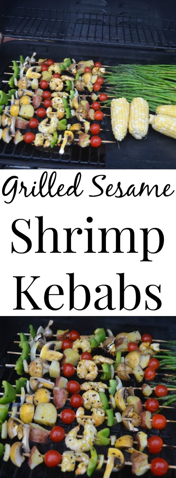 These Sesame Shrimp Kababs are loaded with flavor and are easy to make! Customize them with your favorite vegetables for a quick dinner. www.nutritionistreviews.com