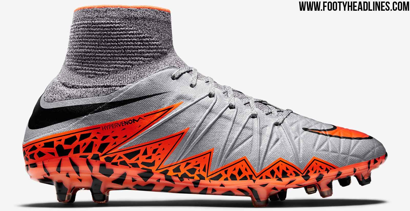 065a6247449 ... FG Firm Ground Soccer Cleats White Pink Black Nike Hypervenom 2 Wolf  Grey Black Orange Nike Hypervenom Phantom ...