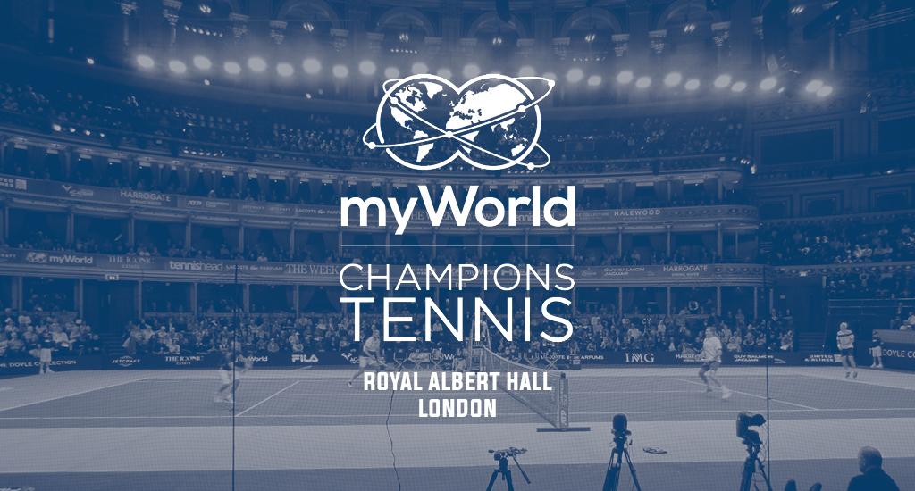 Royal Albert Hall and myWorld Champions Tennis logo