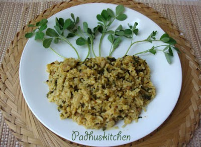 vendhaya keerai rice