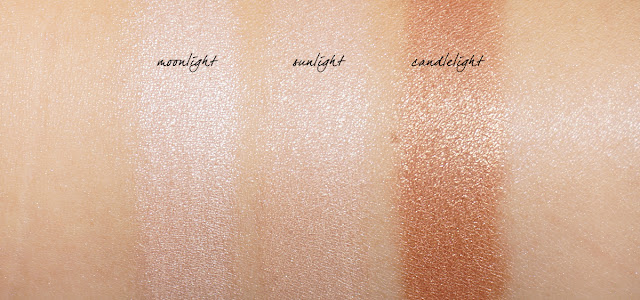 Cover FX The Perfect Light Highlighting Powder swatches