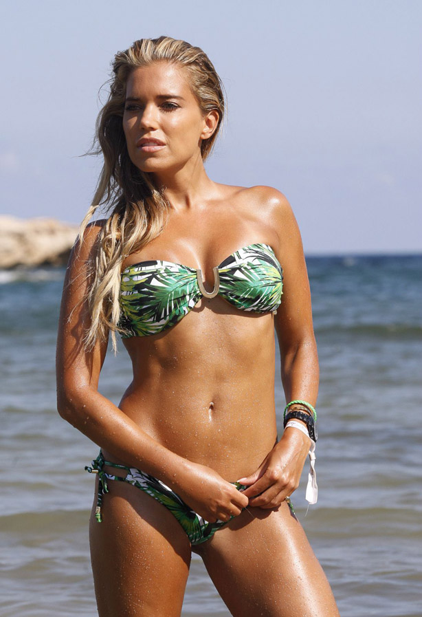 celebrity in bikini sylvie meis photo shoot at a beach. Black Bedroom Furniture Sets. Home Design Ideas
