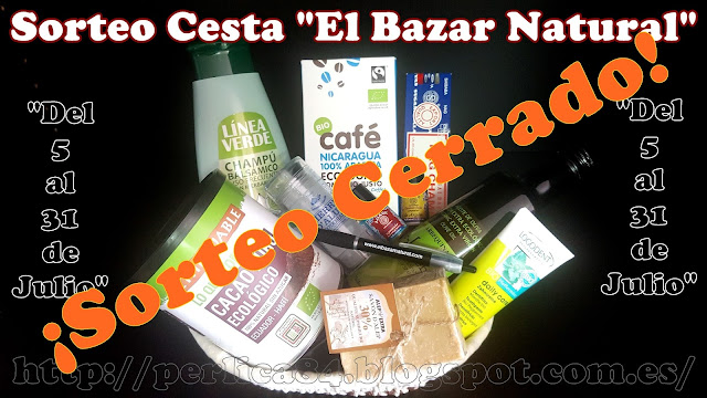 """Ganadora del Sorteo de Cesta de Productos de """"El Bazar Natural"""" es:"""