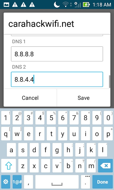 DNS Gunakan punya google saja