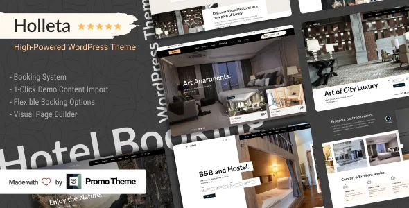Holleta Responsive Premium WordPress Theme with Booking System