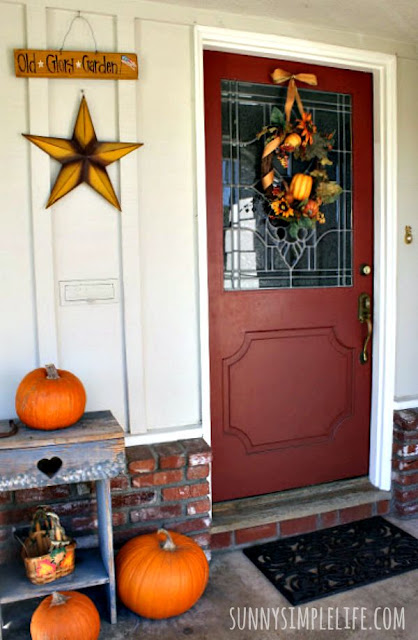 red door, tin star, pumpkins, California ranch