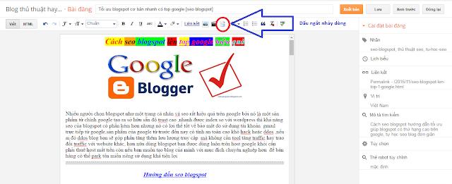 seo blogspot cực dễ lên top