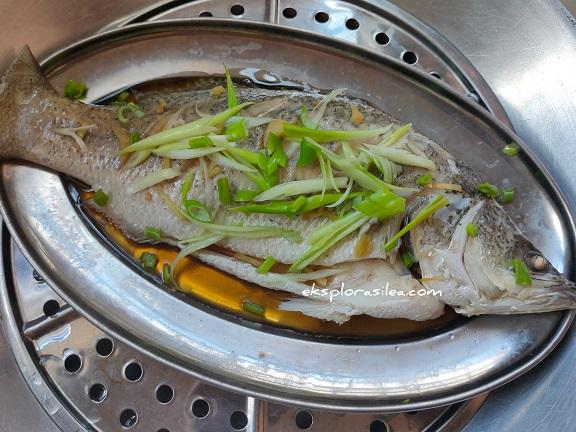 Resepi Ikan Siakap Stim Mudah dan Cepat