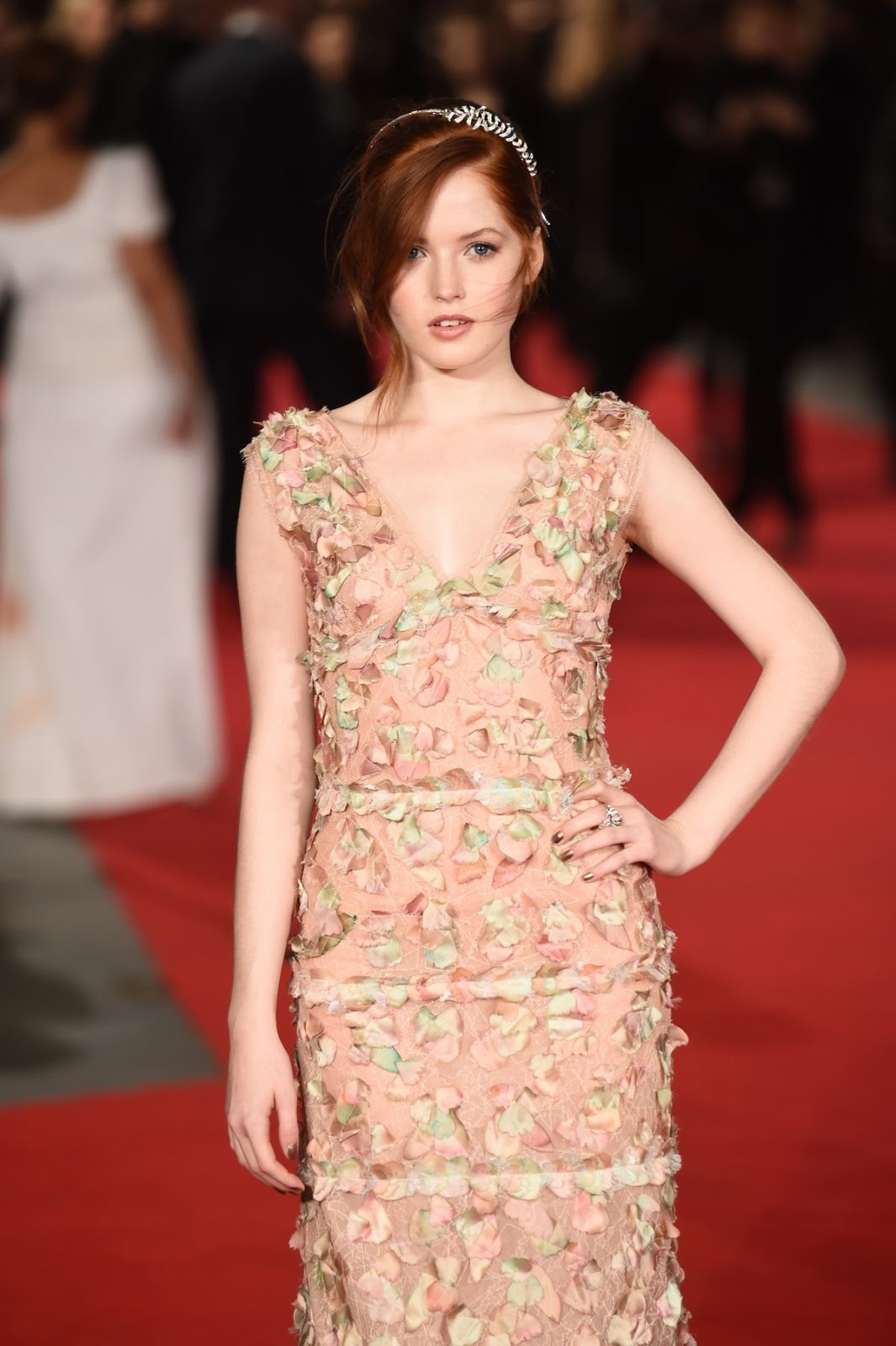 'Pride and Prejudice and Zombies' actress Ellie Bamber at London Premiere