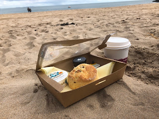 Barafundle beach scone