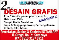 Loker Surabaya di Percetakan Sablon dan Koveksi KitaHappy Oktober 2020