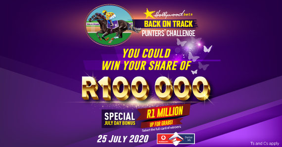 R100 000 Hollywoodbets Back On Track Punters' Challenge - Vodacom Durban July 2020