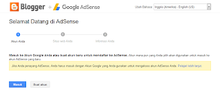 Daftar adsense lewat blogger