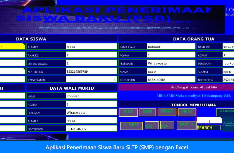 Aplikasi Penerimaan Siswa Baru SLTP (SMP) dengan Excel.jpg