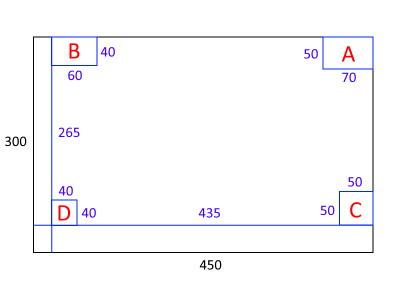 今回の自作水槽の蓋設計図