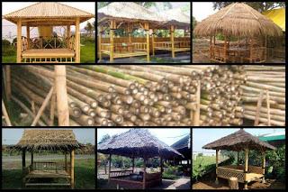 jasa pembuatan gazebo saung bambu di depok murah bagus berkualitas