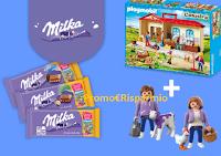 """Concorso """"Gioca con Milka"""" : vinci 500 kit Playmobil + 2 personaggi esclusivi Milka"""