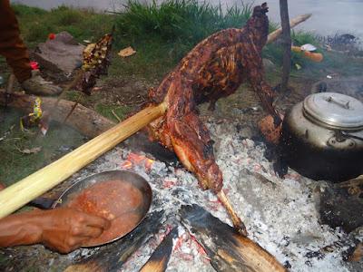 On request Goat BBQ at Lake Segara Anak Mt Rinjani