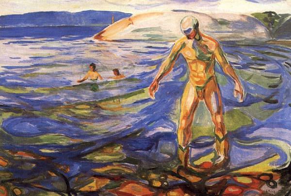 Эдвард Мунк - Купающийся мужчина. 1918