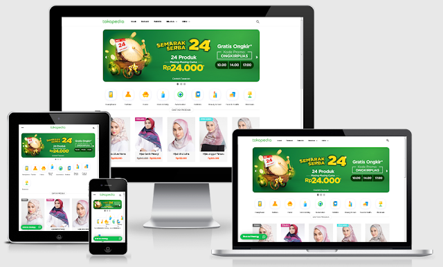 Download Template VioToko Redesign Mirip Tokopedia SEO & Responsive