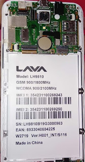 LAVA LH9810 S116 FIX DEAD BOOT / HANG LOGO / FRP FIRMWARE