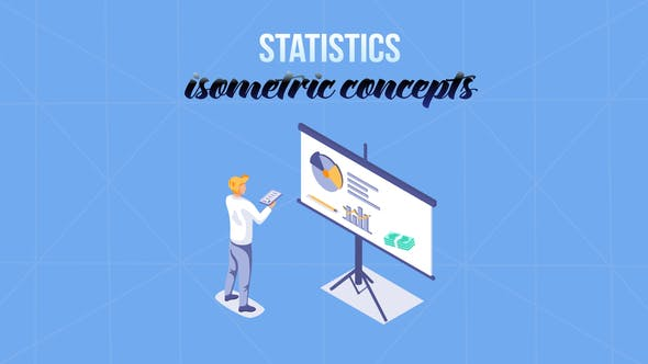 Statistics - Isometric Concept[Videohive][After Effects][29057296]