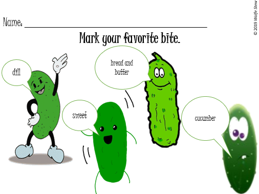 Use this ballot on National Pickle Day to note your pickle preferences.
