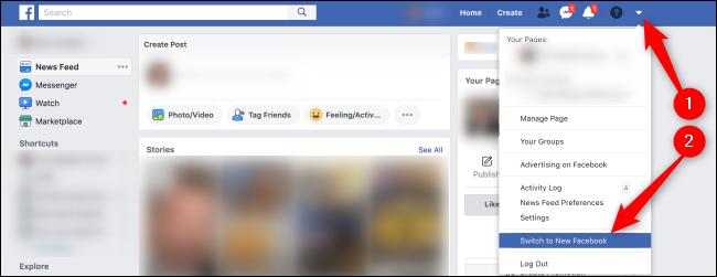 تمكين واجهة Facebook الجديدة