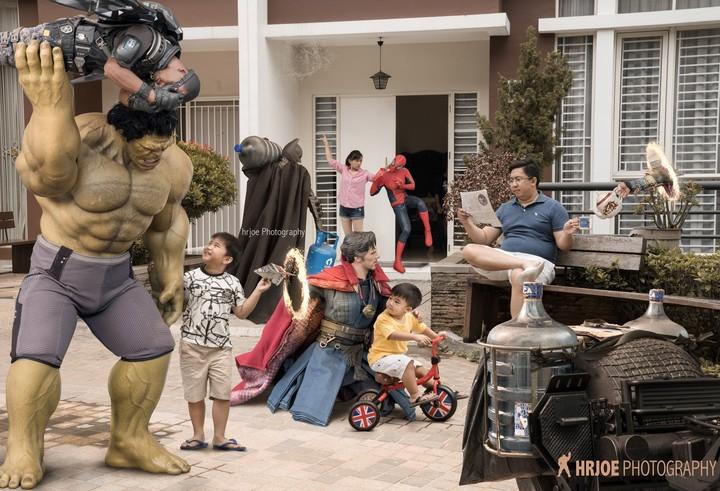 Os Vingadores criados de forma humorada por Hrjoe Photography