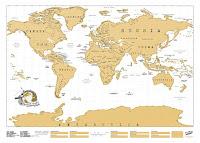 Mappa Multicolore  dei nostri viaggi da grattare