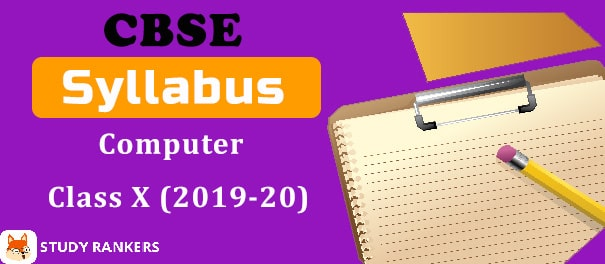 CBSE Class 10 Computer Applications Syllabus 2019-20