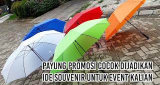 Payung Promosi cocok dijadikan ide souvenir untuk event kalian