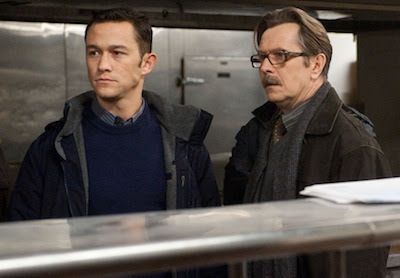 joseph gordon-levitt as john blake, gary oldman as commissioner gordon, The Dark Knight Rises, Directed by Christopher Nolan
